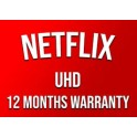 Netflix 12 Months Subscription & Warranty Ultra HD works WORLDWIDE USA/ISR/ESP/CA/...