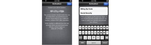 iPhone Data (Billing Zip Code/SSN)